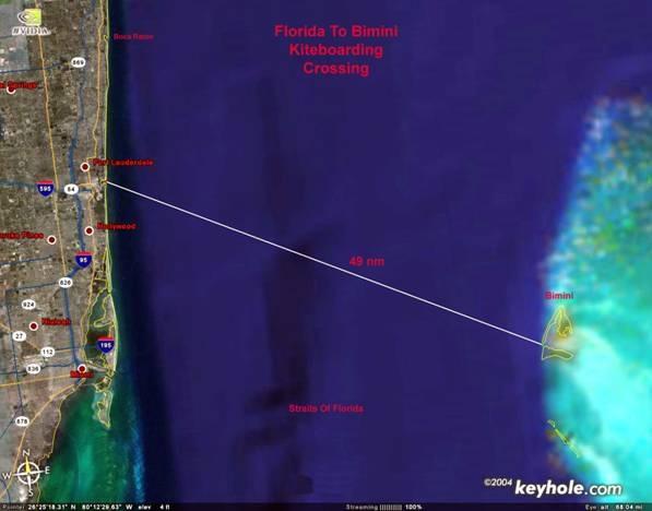 The proximity of the bahamas to
